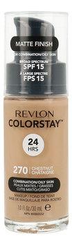 Revlon, ColorStay, podkład do cery tłustej i mieszanej 270 Chestnut, SPF 15, 30 ml-Revlon