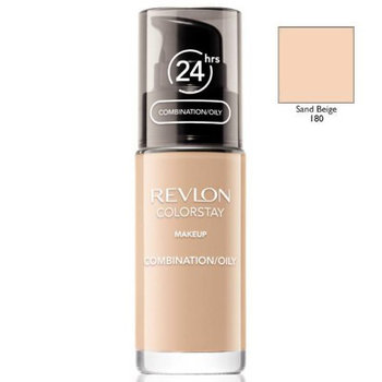 Revlon, ColorStay, podkład z pompką do cery mieszanej i tłustej z kompleksem SoftFlex 180 Sand Beige, 30 ml-Revlon