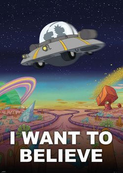 Rick and Morty I Want To Believe - plakat 100x140 cm-GBeye