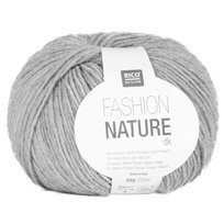 Rico Design, włóczka Fashion Nature, 50 g/233 m, szara