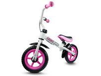 Rico, Rowerek biegowy z hamulcem, biało-różowy