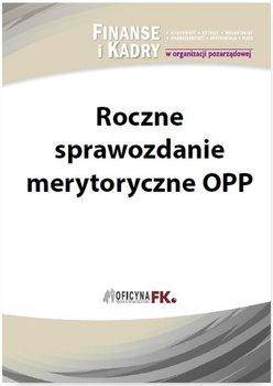 Roczne sprawozdanie merytoryczne OPP                      (ebook)
