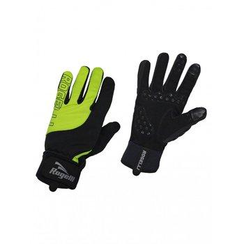 Rogelli, Rękawiczki rowerowe ocieplane, czarno-limonkowe, rozmiar M-Rogelli
