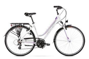 """Romet, Rower trekkingowy, Gazela L 28"""", biało-fioletowy 2021-Romet"""