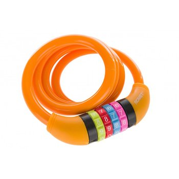 Romet, Zamknięcie spiralne na szyfr, 10x1000 mm, pomarańczowe-Romet
