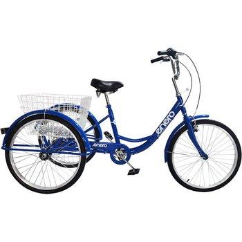 Rower 3-kołowy trójkołowy rehabilitacyjny koła 24 6-biegowy-Enero