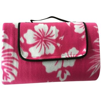 Royokamp, Koc plażowy - piknikowy, różowe kwiaty, 200x150 cm-Royokamp