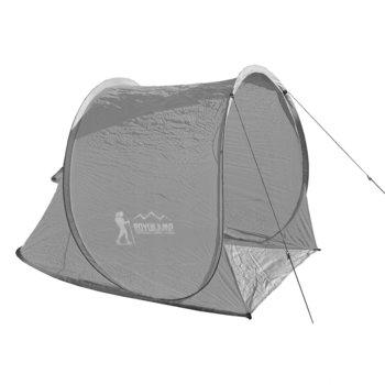 Royokamp, Namiot plażowy, samorozkładający, szary, 145x105x100/75 cm-Royokamp