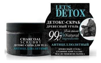 Russkaja Kosmetika, Let's detox, naturalny detoks-scrub do ciała z węglem drzewnym, 250 ml-Russkaja Kosmetika