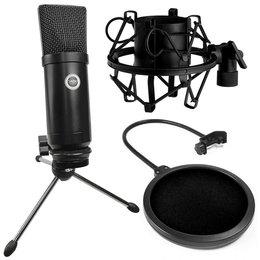 SAIBU MU-1 - Mikrofon pojemnościowy USB + Kosz antywibracyjny 43-47mm + Pop Filtr Mikrofonowy PS1