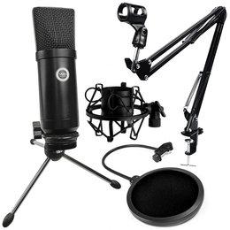 SAIBU MU-1 - Mikrofon pojemnościowy USB + Uchwyt/statyw biurkowy + POP Filtr + Kosz antywibracyjny