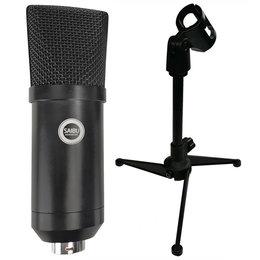 SAIBU MU-1 - Studyjny mikrofon pojemnościowy USB + Statyw/tripod KH12