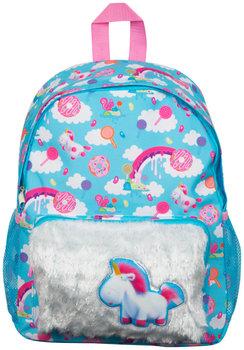 Sambro, plecak szkolny, Fluffy Minionki, błękitny-Sambro
