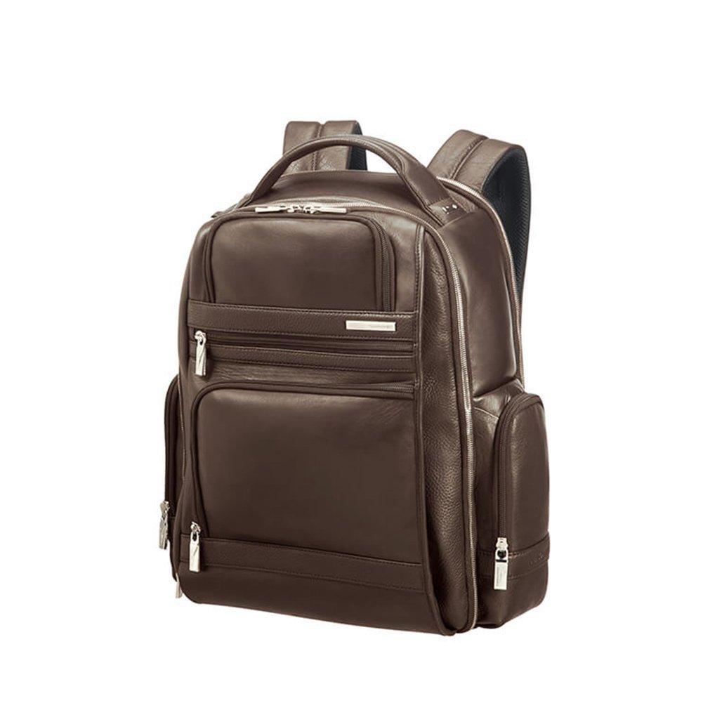 "Samsonite, Plecak skórzany na laptop 15,6"", brązowy, 30,5l"