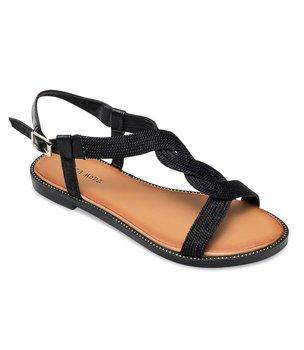 Sandałki damskie Laura Mode WL046 Czarne - 37-LAURA MODE