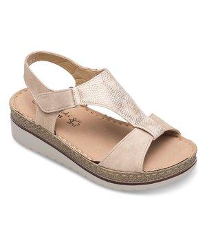 Sandałki damskie Skotnicki S-3-3018 Beżowe - 36-SKOTNICKI