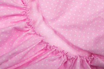 Sango Trade, Prześcieradło dziecięce z gumką, 60x120 cm, Róż Kulka-Sango Trade