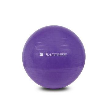 Sapphire, Piłka gimnastyczna SG-042 65 cm z pompką, fioletowa-Sapphire
