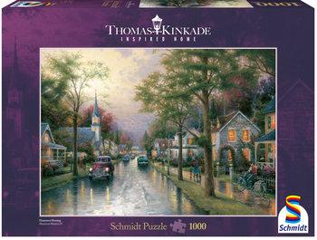 Schmidt, puzzle Thomas Kinkade  Poranek w rodzinnym mieście-Schmidt