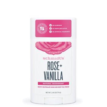 Schmidt's, naturalny dezodorant w sztyfcie Róża & Wanilia, 58 ml-Schmidt's
