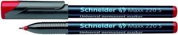 Schneider, foliopis wersalny Maxx 220 S, czerwony-Schneider