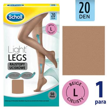 Scholl, Light Legs, rajstopy uciskowe 20 DEN cieliste rozmiar L, 1 para-Scholl