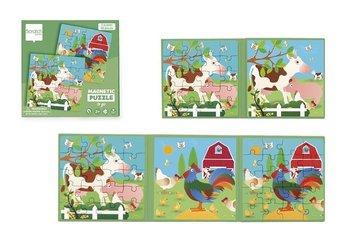 Scratch, puzzle magnetyczne Książka podróżna Farma-Scratch