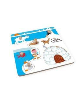 Scratch,  puzzle z uchwytem, Eskimos-Scratch