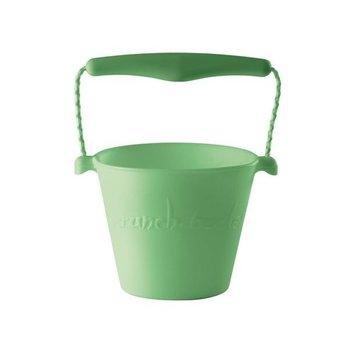 Scrunch Bucket , silikonowe wiaderko do wody i piasku, pastelowy zielony-Scrunch