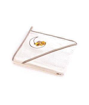 Sensillo, Okrycie kąpielowe, Ecru, Niedźwiadek, 100x100 cm-Sensillo