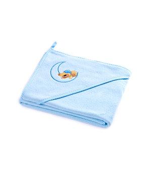 Sensillo, Okrycie kąpielowe, Niebieski, Niedźwiadek, 100x100 cm-Sensillo