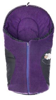 Sensillo, Śpiwór do fotelika, polar, 75x36 cm, Black/Purple-Sensillo