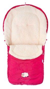 Sensillo, Śpiwór do wózka, wełna, 95x40 cm, Raspberry-Sensillo
