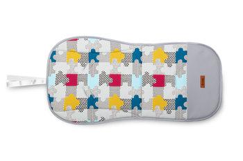 Sensillo, Wkładka do wózka, velvet, Puzzle, Szara-Sensillo