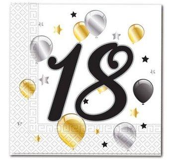 Serwetki, 18 urodziny Balloons, 33 cm, 20 sztuk-Procos