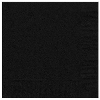 "Serwetki, ""Gładkie"", czarne, 25 cm, 20 sztuk-Amscan"