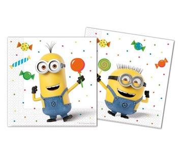 Serwetki, Minions Balloons Party, 33 cm, 20 sztuk-Procos