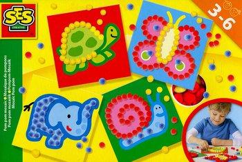 SES Creative, zestaw Mozaika z pomponików-SES Creative