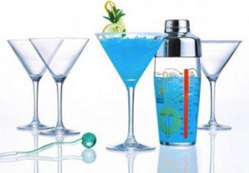 Shaker + kieliszki LUMINARC Martini, 580 ml + 300 ml, 5 elementów-Luminarc