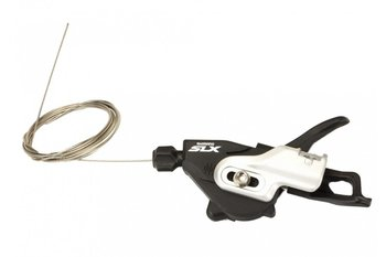 Shimano Dźwignia przerzutek DEORE SLM-670, lewa, czarno - srebrna-Shimano