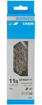 Shimano, Łańcuch, CN-HG601 116 ogniw 11-rzęd  + pin Super Narrow, srebrny, rozmiar uniwersalny-Shimano