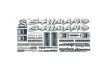 Shimano, Naklejka KR4, biało-grafitowa-Shimano