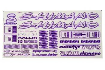 Shimano, Naklejka KR4, fioletowa-Shimano