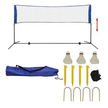 Siatka do badmintona, lotki, 300x155 cm-vidaXL