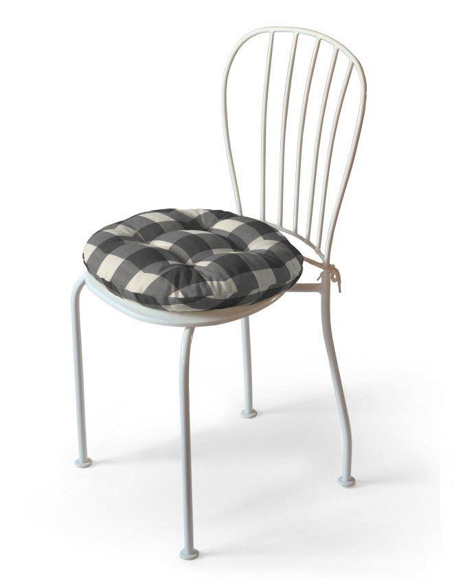 Siedzisko na krzesło DEKORIA Edinburgh, Adam, krata szaro