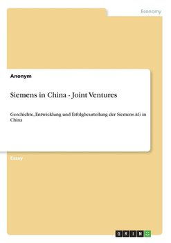 Siemens in China - Joint Ventures-Anonym