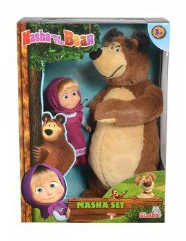 Simba, Masza i Niedźwiedź, maskotka z lalką-Simba