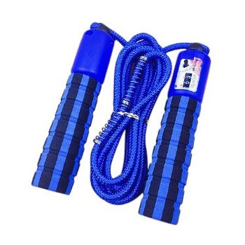 Skakanka z licznikiem skoków podskoków do fitness crossfit niebieski - Niebieski-Hurtel