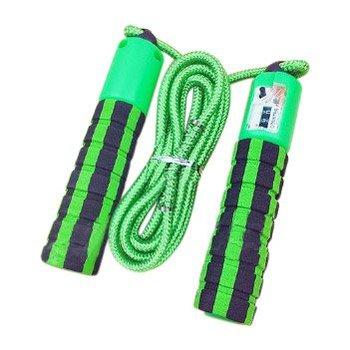 Skakanka z licznikiem skoków podskoków do fitness crossfit zielony - Zielony-Hurtel