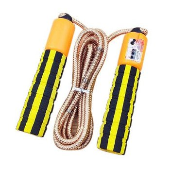 Skakanka z licznikiem skoków podskoków do fitness crossfit żółty - Żółty-Hurtel